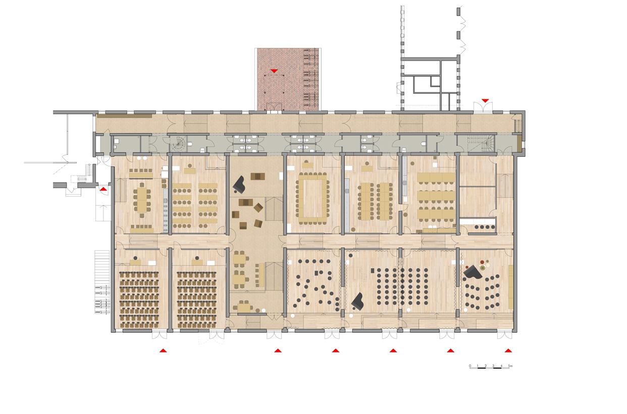 Frescati_Backe_Stockholms_Universitet_Utbildningslokaler_Utbildningsstudio_Plan_Varg_Arkitekter