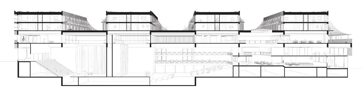 Skelefteå_Kulturhus_öppen_tävling_Sektionsperspektiv_Varg_Arkitekter
