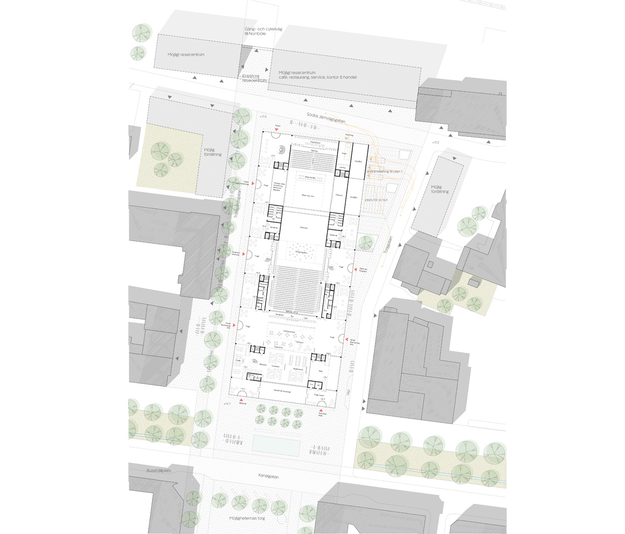 Skelefteå_Kulturhus_öppen_tävling_Situationsplan_mellan_Varg_Arkitekter