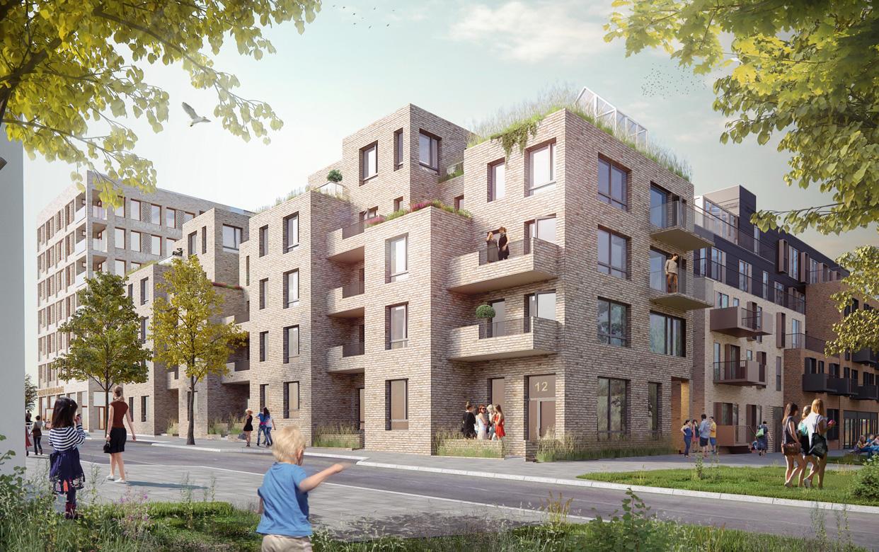 8_Täby-park_kvarter-2B_vy-från-Gröna-Slingan_Varg-arkitekter