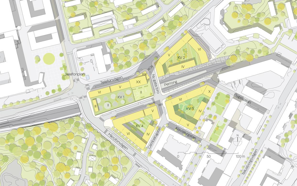 Tvalflingan_Telefonplan_Stockholm_Tunnelbana_Overdackning_Kvarter_Situationsplan2_Varg_Arkitekter