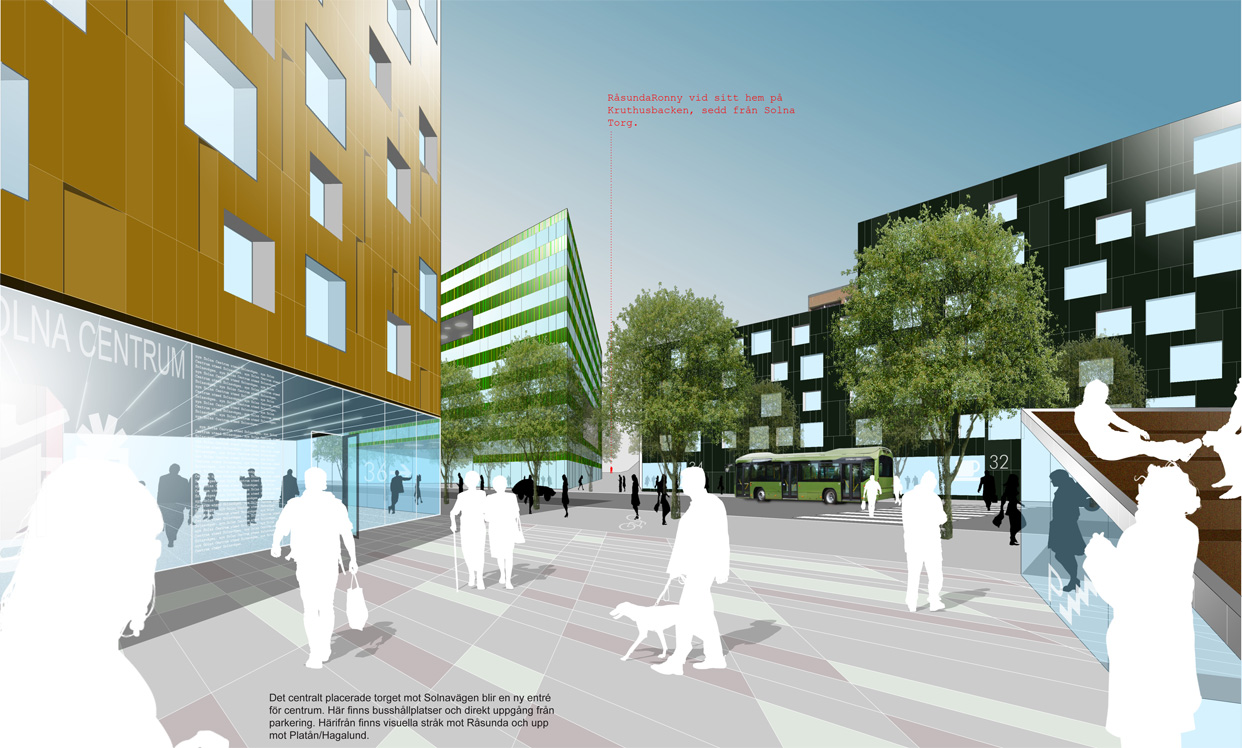 Solnavagen_solna_stockholm_illustration2_bostader_butiker_statsutveckling_varg_arkitekter